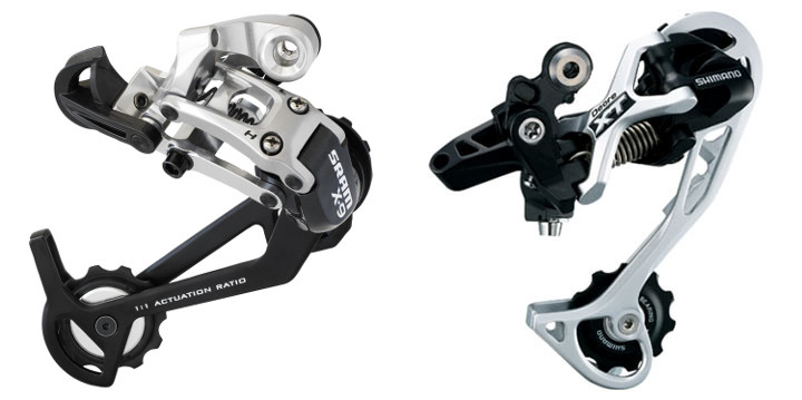 Sram ESP and Shimano Dyna-Sys rear derailleurs have same mechanical advantage
