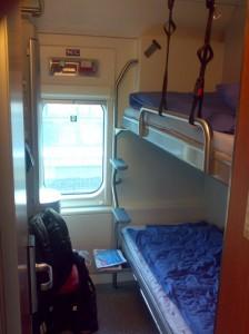 Двухместное купе в финляндском ночном поезде