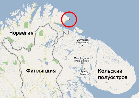 Kiberg на карте
