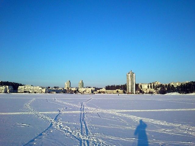Лыжня на заливе