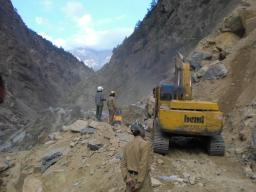 Clearing of the landslide