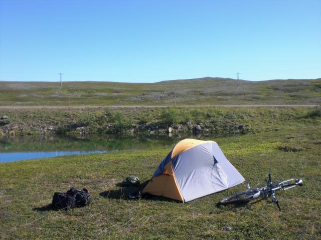 Camping place 2. Just next to the road to Syltefjord.